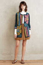 NEW NWT Anthropologie  Felted Craft Flower Cardigan Sz M by Troubadour