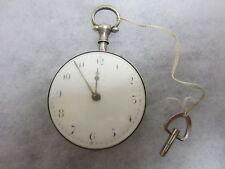 """Antike Englische SPINDEL-UHR - """"CHARLES STONE LIVERPOOL"""" - Verziertes Uhrwerk"""
