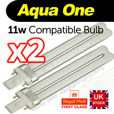 x2 Aqua One AquaStart 320/40/500 AquaStyle 380/510 11w 2 pin light bulb