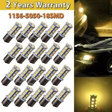 20 Car RV Trailer Warm White 1156 BA15S 5050 18smd 7503 1141 1073 LED Light Bulb