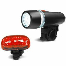 US Bicycle Light Set, Super Bright 5 LED Headlight and 3 LED Taillight Accessory