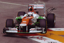 Paul Di Resta Signed 8X12 Inches Force India 2012 Monaco GP F1 Photo