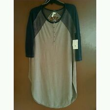 NWT Free PeopleCotton Linen Loose Fit Jersey Road Trip Tee XS