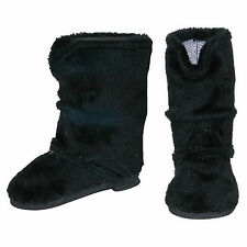 """SF Springfield BLACK SUEDE BOOTS for 18"""" American Girl Dolls Warm Fuzzy"""