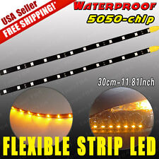"2pcs 12"" 30CM Flexible LED Underbody Light Strip Car Motor Boat 12V Waterproof"
