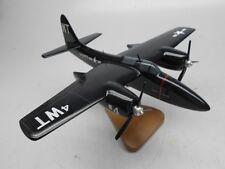 Grumman F7F Tigercat Fighter F-7 Aircraft Wood Model Replica Small Free Shipping