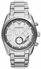 Emporio Armani AR6036 XL Silver Dial Stainless Steel Chronograph Men's Watch
