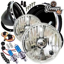 Suzuki Samurai SJ Crystal Clear Xenon Halogen Headlight Head Lamp Conversion Kit