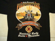 The  Working People's Union Fire Fighters Motorcycles Group T Shirt Size L