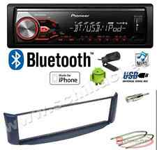 Pioneer MVH-X380BT autoradio USB / bluetooth + Kit montaggio per Smart Fortwo bl