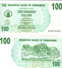 A Crisp Unc. 100 Dollar Note from Zimbabwe Dating 2006
