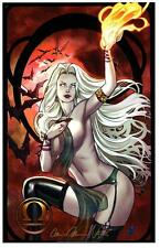 "LADY DEATH ZODIAC ART PRINT ""LIBRA""  Signed Brian PULIDO and Nei RUFFINO"