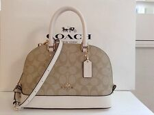 NWT. Coach Signature Mini Sierra Domed Satchel Crossbody Handbag F58295