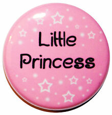 "1"" (25mm) 'LITTLE PRINCESS' Button Badge Pin - High Quality"