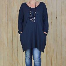 Womens Lagenlook Plus Size Tunic Top 14 16 18 20 22 24 26 28 30 XL XXL XXXL L36