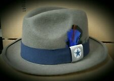 MENS LARGE  DALLAS COWBOYS WOOL LOWRIDER HAT FEDORA VINTAGE ROCKABILLY RAT ROD