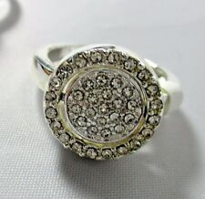Ring Reversible 2 Sided Ring Rhinestone Cluster Flip to Gemstone Size 10 NWT T37