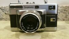 Exc. Condition Voigtlander Vitessa T 35mm Rangefinder Camera w/ Color Skopar Len