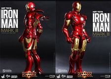 "Hot Toys Marvel Iron Man Mark III Mk 3 DIECAST 1/6 Scale 12"" Figure In Stock USA"