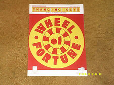 Changing Keys sheet music THEME from WHEEL OF FORTUNE TV show '84 5 pp VG+ shape