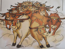 Cattle Stampede U get photo #1retired L@@K@example Art Impressions Rubber Stamps