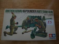 L38 Tamiya Model kit - British Army 6 Pouner Anti Tank Gun - 3505 - 1/35