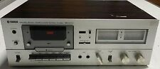 Vintage YAMAHA NS Series TC-520 Silver Face Wood Case Stereo Cassette Deck Japan