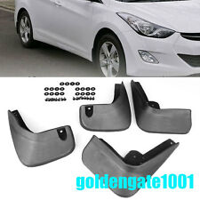 Black Mud Flaps Splash Guards Fender For Hyundai Elantra Sedan 12 13 14 15 16 GG