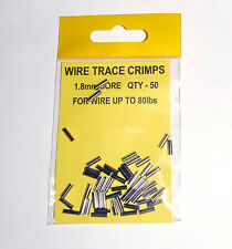 Wire Trace Crimps 1.8mm for up to 80lb pack of 50 - Sea Predator Fishing