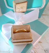 TIFFANY & CO. 18K YELLOW GOLD WEDDING BAND RING! RETIRED RING/BOX C1941 VINTAGE!