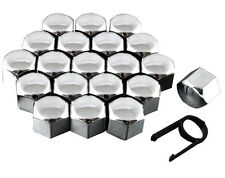 20 Chrome Wheel Nuts Bolts Cup Covers 17mm Universal For Abarth 500 595