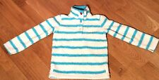 * JOULES * GIRLS MERRIDIE STRIPED Fluffy FLEECE TOP Jumper   7 yrs  Free UK Post
