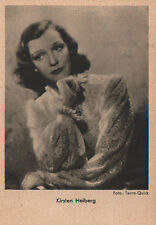 OLD POSTCARD ACTRESS GERMANY . KIRSTEN HEIBERG  YEARS 1940 . SEE MY STORE CC1289