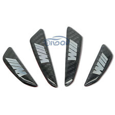 For BMW Emblem Carbon Fiber Car Side Door Edge Protection Guard Trim Sticker