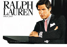 PUBLICITE ADVERTISING 094  2008  RALPH LAUREN haute couture homme BLACK LABEL(2p