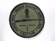 MOSIN NAGANT EMBROIDERED PATCH/ NEW/ MILITARY/ 7.62 X 54r / NEW / 3 INCH