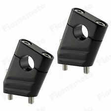 "7/8"" 22mm Motorcycle CNC Universal Alumium Handlebar Riser Clamp Taper Black"