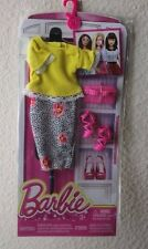 2016 Barbie Complete Look Fashion Pack Yellow Top, Skirt, Shoes & Purse