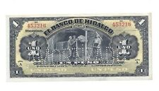 Mexican Revolution Banco de Hidalgo 1 Peso Banknote Mexico Peso Currency Money