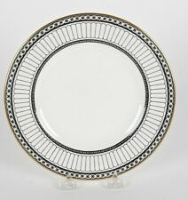 "SET OF 12 WEDGWOOD COLONNADE BLACK R4340 8 1/8"" SALAD PLATES"