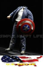 1/6 Captain America Clothes Set for Custume The avengers hot toys phicen ❶USA❶