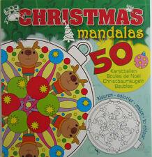 Mandala * Malbuch * Weihnachten * Kinder + Erwachsene * 50 Motive *Renntier*Neu