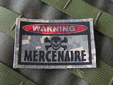 "SNAKE PATCH ..:: WARNING MERCENAIRE ::.. AIRSOFT PAINTBALL US "" ACU DIGITAL """
