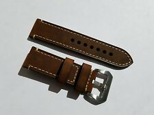24mm Genuine Leather Watch Band Strap for Panerai  / 24mm pre v buckle