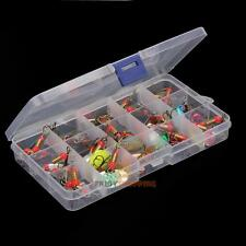 Lot 30pcs Metal Fishing Lures Spinner Baits Crankbait Assorted Fish Tackle Hooks