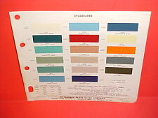 1959 1960 1961 STUDEBAKER PICKUP TRUCK TRANSTAR 4x4 SCOTSMAN CHAMP PAINT CHIPS