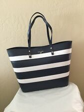 NWT! Cole Haan Beckett Large Striped Tote in Blue, White MSPS $250
