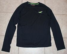 Hollister Mens Medium Navy Blue Athletic LS Shirt