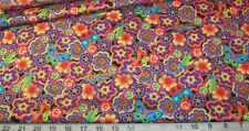 Laurel Burch FatQuarter *NEW* Butterflies Birds Blossoms in shades of NEON