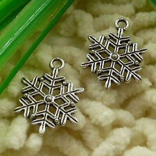 free ship 65 pieces tibetan silver snowflake charms 22x17mm #2687